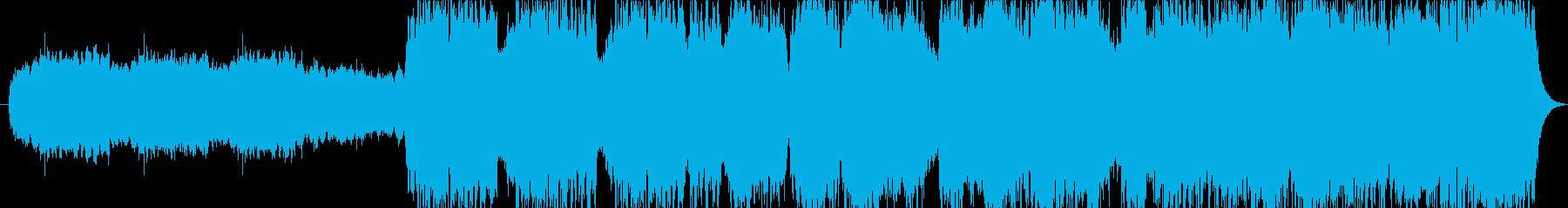 パイプオルガンが鳴り響く、荘厳な曲の再生済みの波形