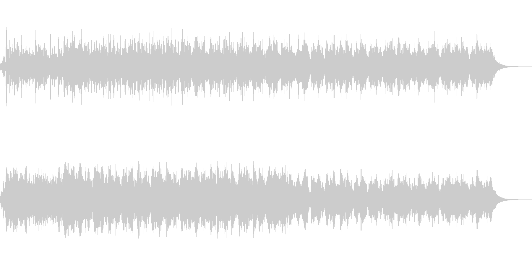 エスニックなアンビエントサウンドスケープの未再生の波形