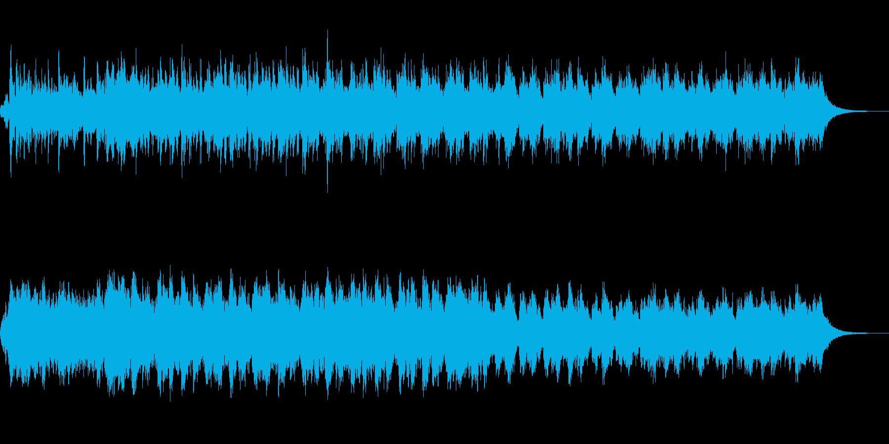 エスニックなアンビエントサウンドスケープの再生済みの波形