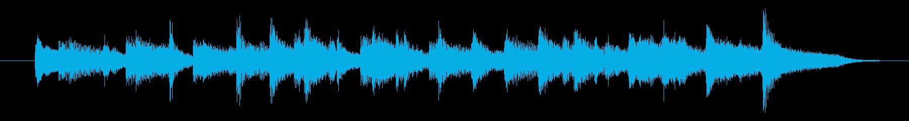 「クリスマス」イメージのジングルの再生済みの波形