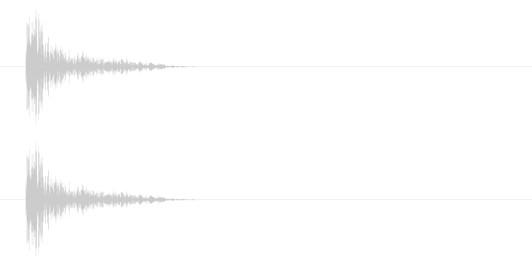 パーン(打撃、パンチ、ヒット音)の未再生の波形