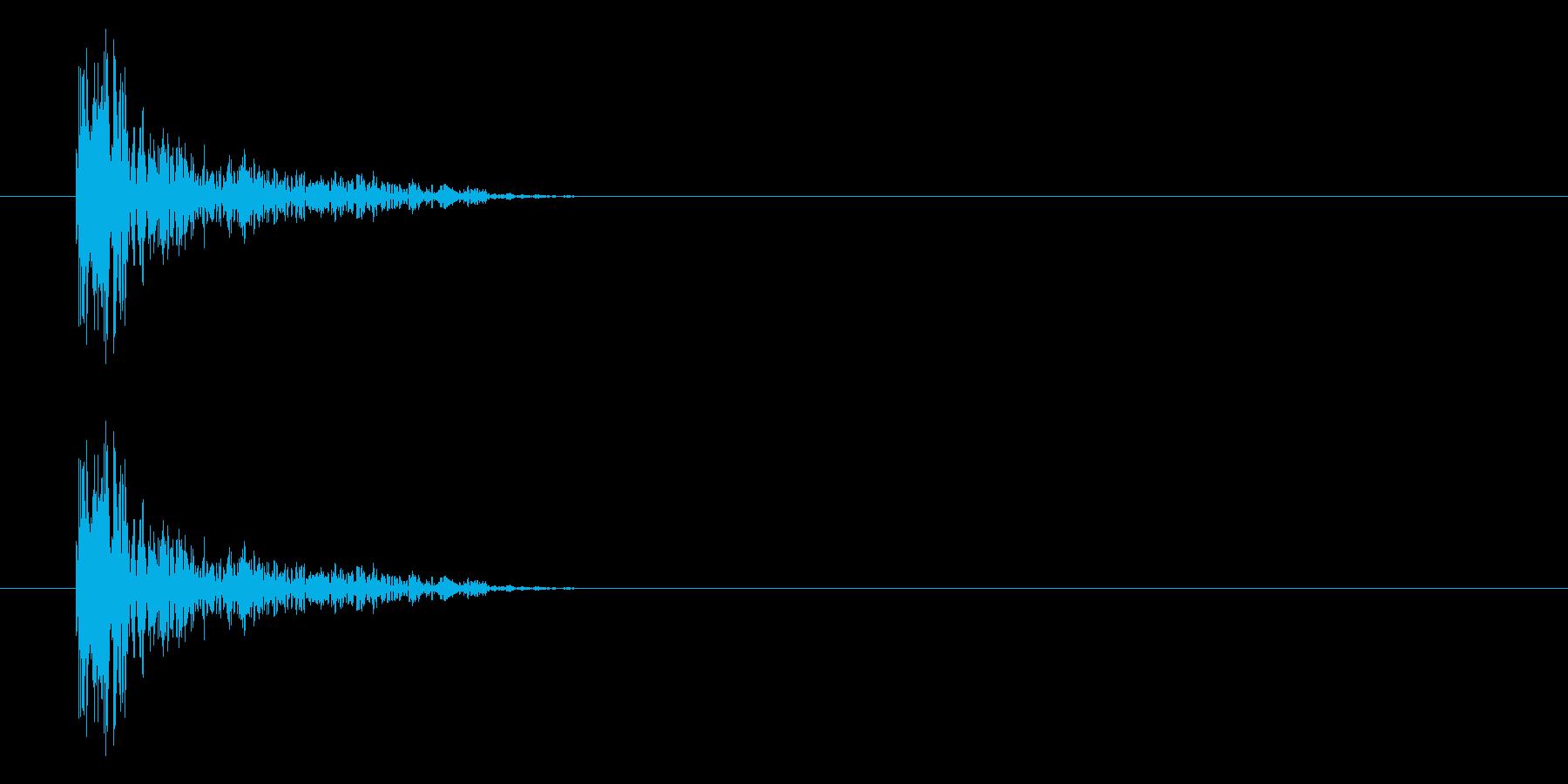 パーン(打撃、パンチ、ヒット音)の再生済みの波形