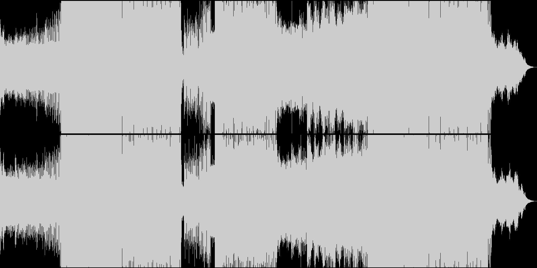EDM系明るくわかりやすい80年代風の未再生の波形