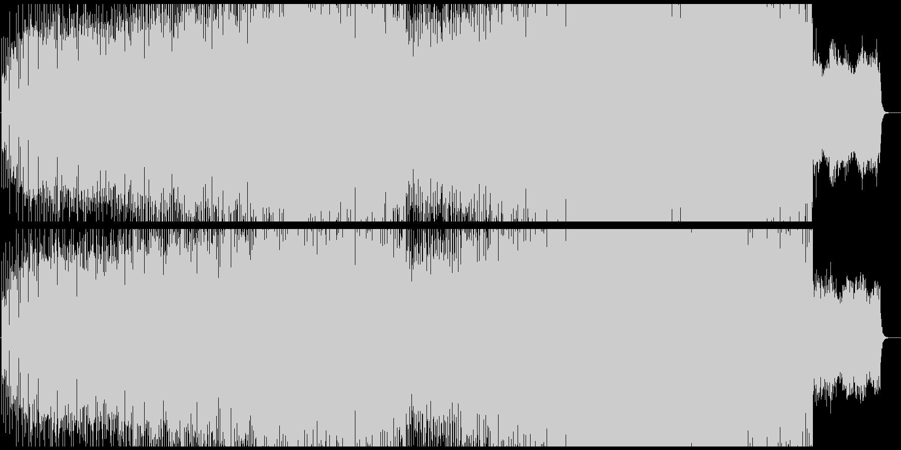 暗い感じのテクノ、BPM遅めの未再生の波形