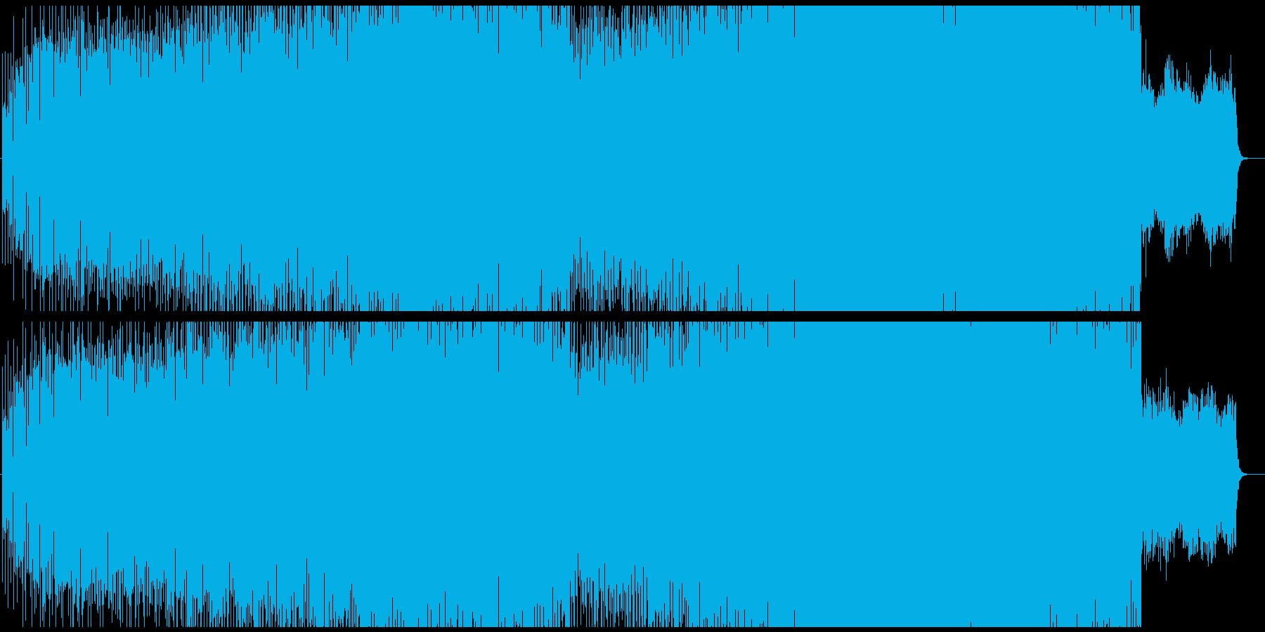 暗い感じのテクノ、BPM遅めの再生済みの波形