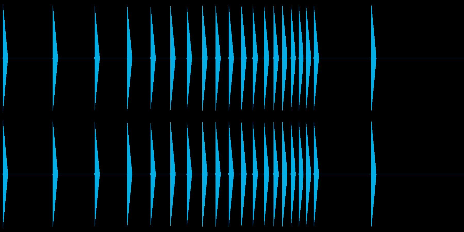 鼓(つづみ)ファミコン系 Tsuzumiの再生済みの波形