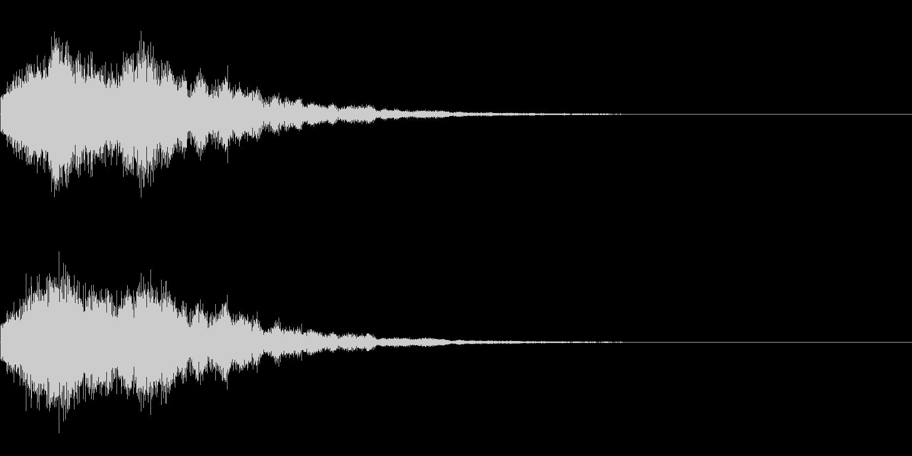 ピローン(決定音、ゲーム、アプリに)の未再生の波形