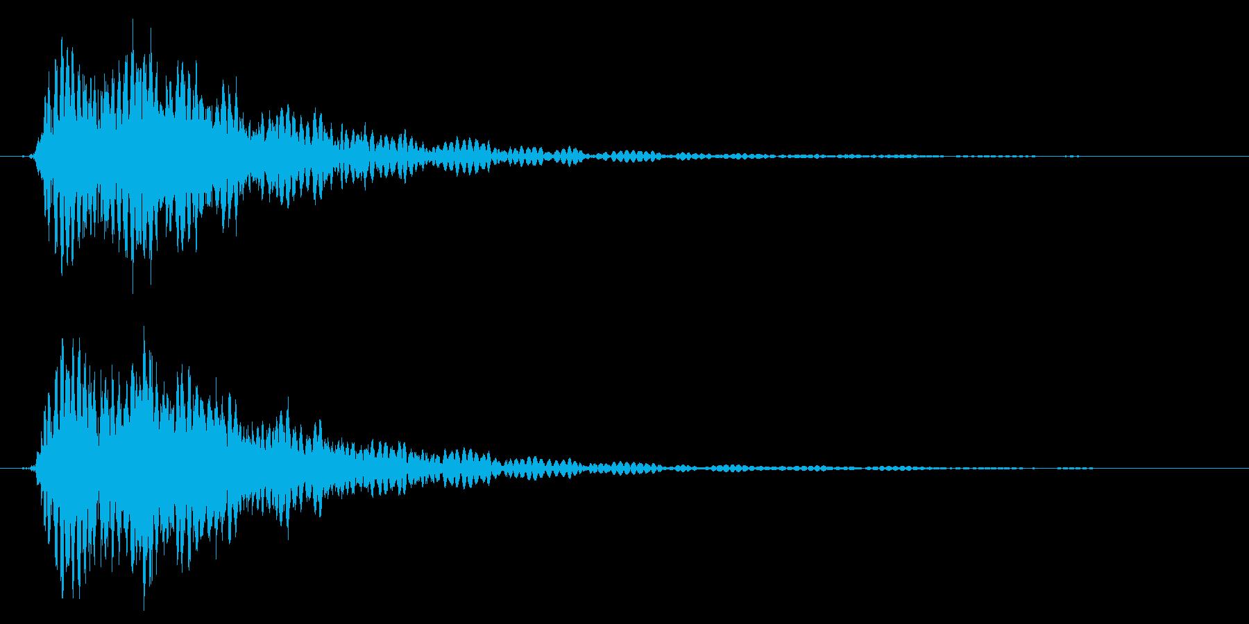 鎖などの金属的な打撃音で重めな音の再生済みの波形