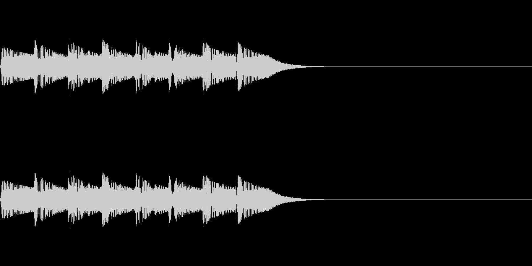ほわほわん(回想・吹き出し)の未再生の波形