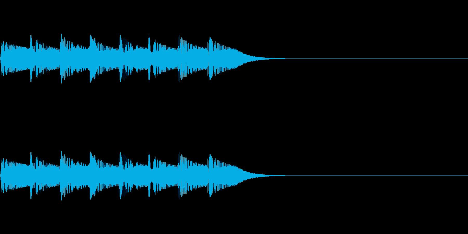 ほわほわん(回想・吹き出し)の再生済みの波形