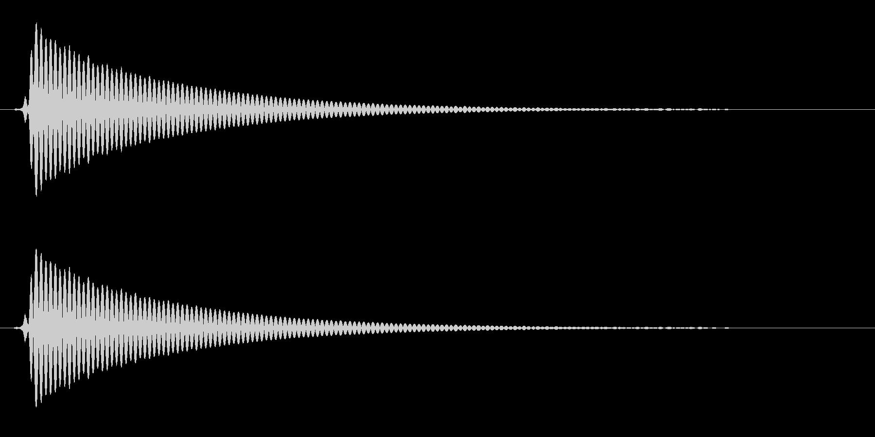 ポォン(大きめボトルからコルクが抜ける)の未再生の波形