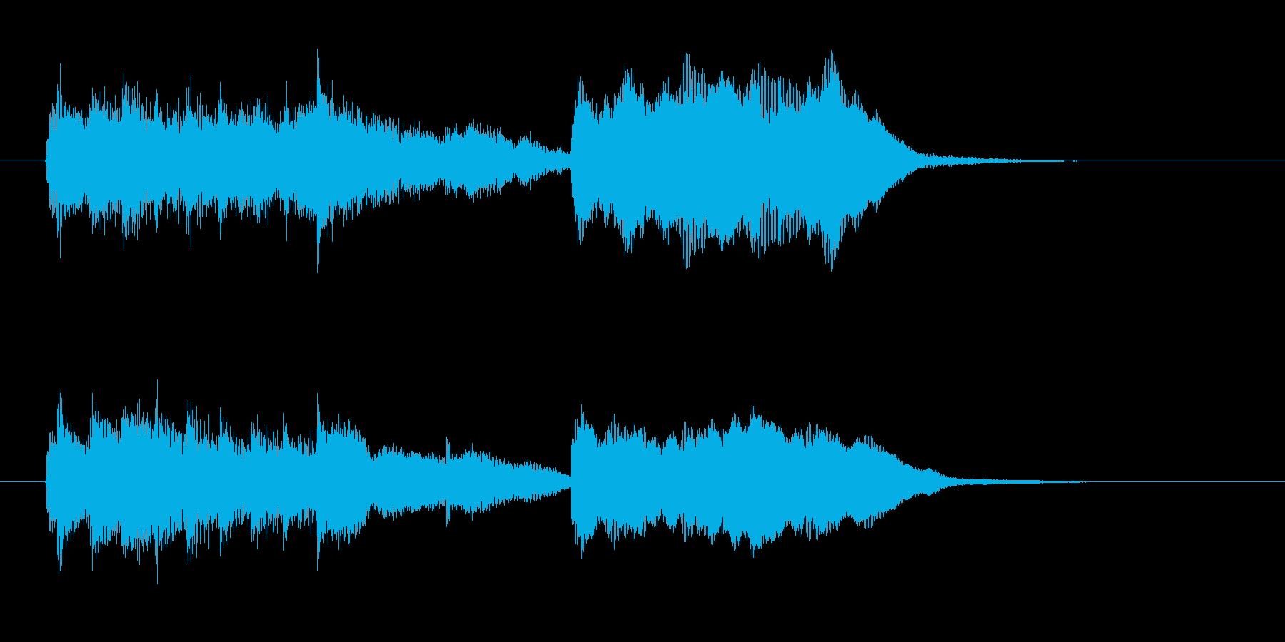 ファンシーな響きのシンセBGMの再生済みの波形