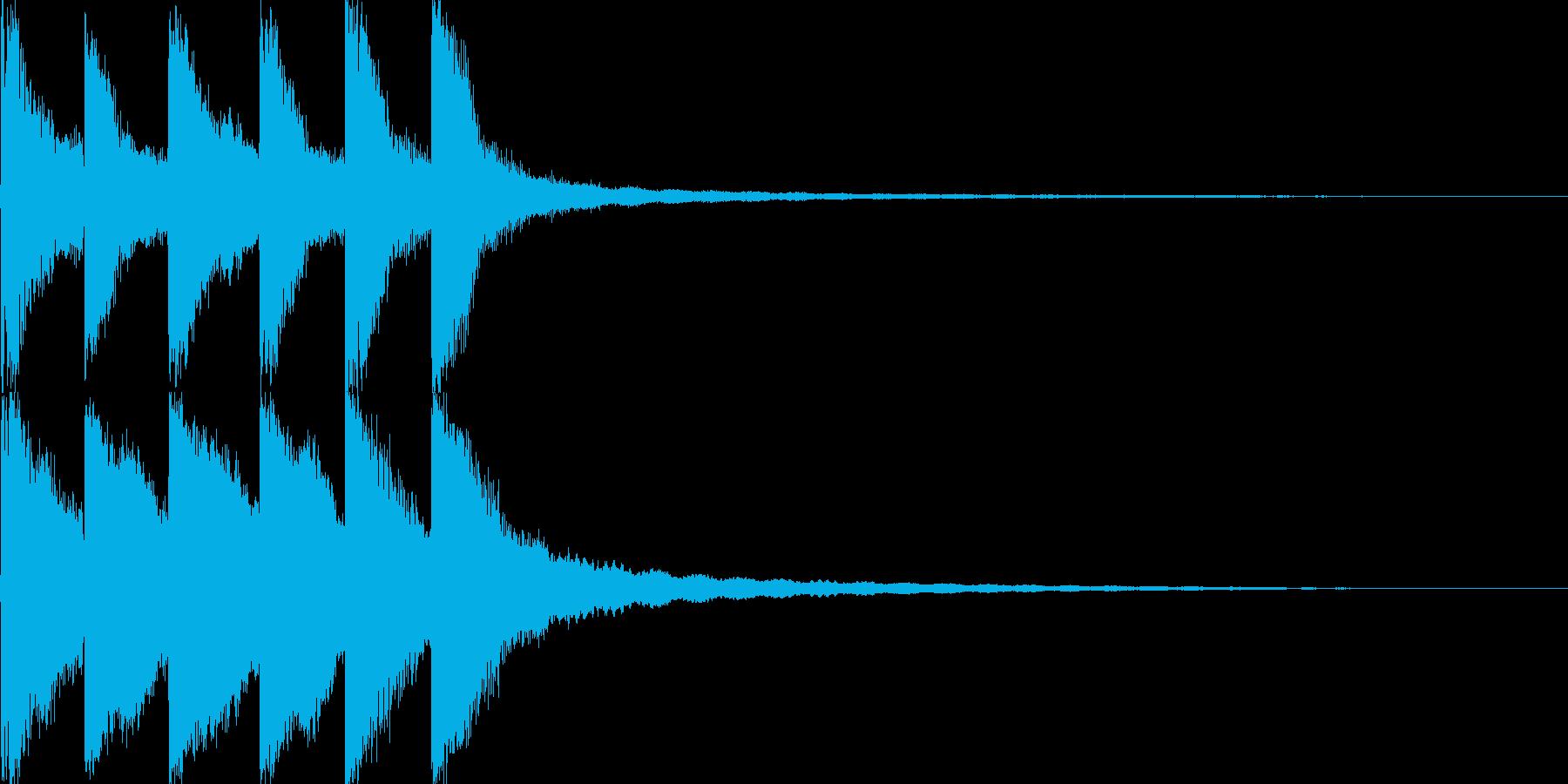 カンカンカンカーンの再生済みの波形