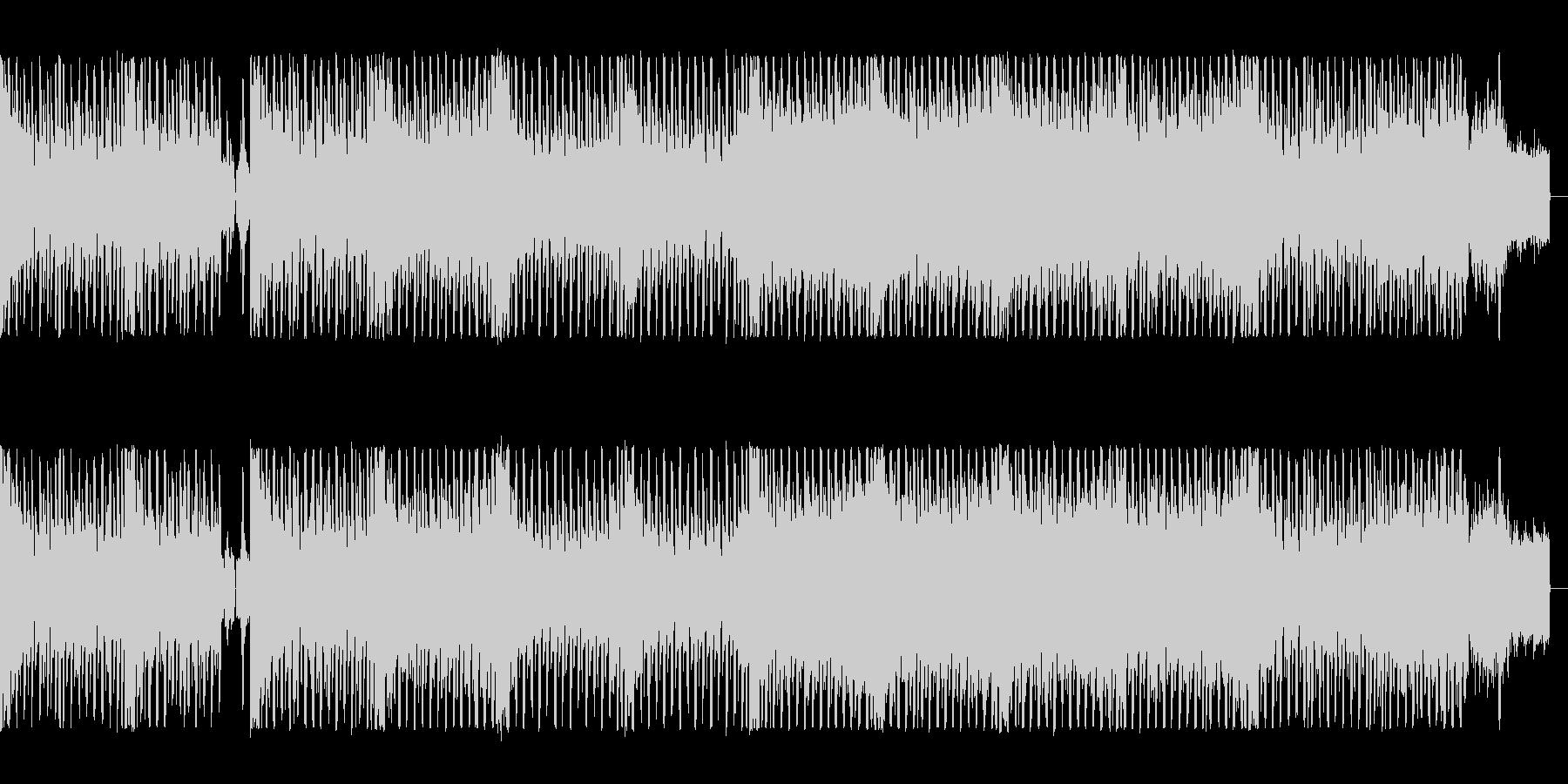 疾走感の電子音、ロックなエレクトロの未再生の波形