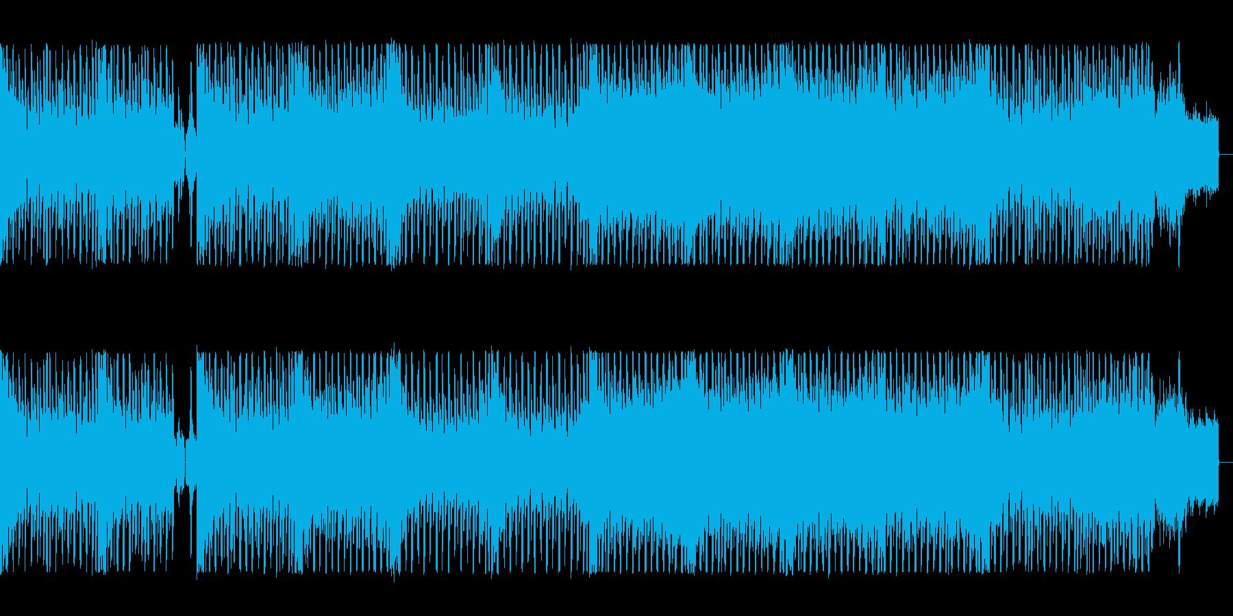 疾走感の電子音、ロックなエレクトロの再生済みの波形