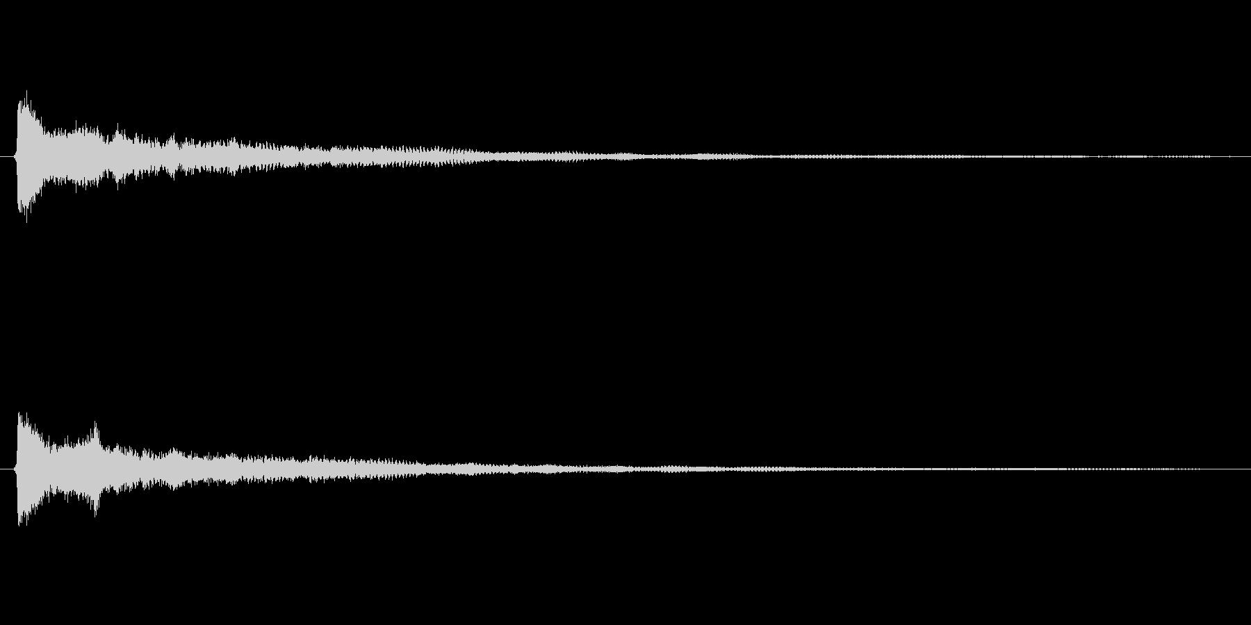 美しいベルのような効果音(ボタン、通知)の未再生の波形