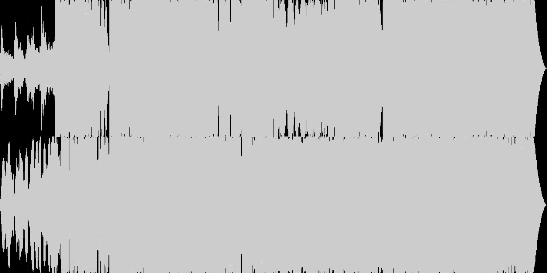 暗く重苦しいホラー系アンビエントの未再生の波形