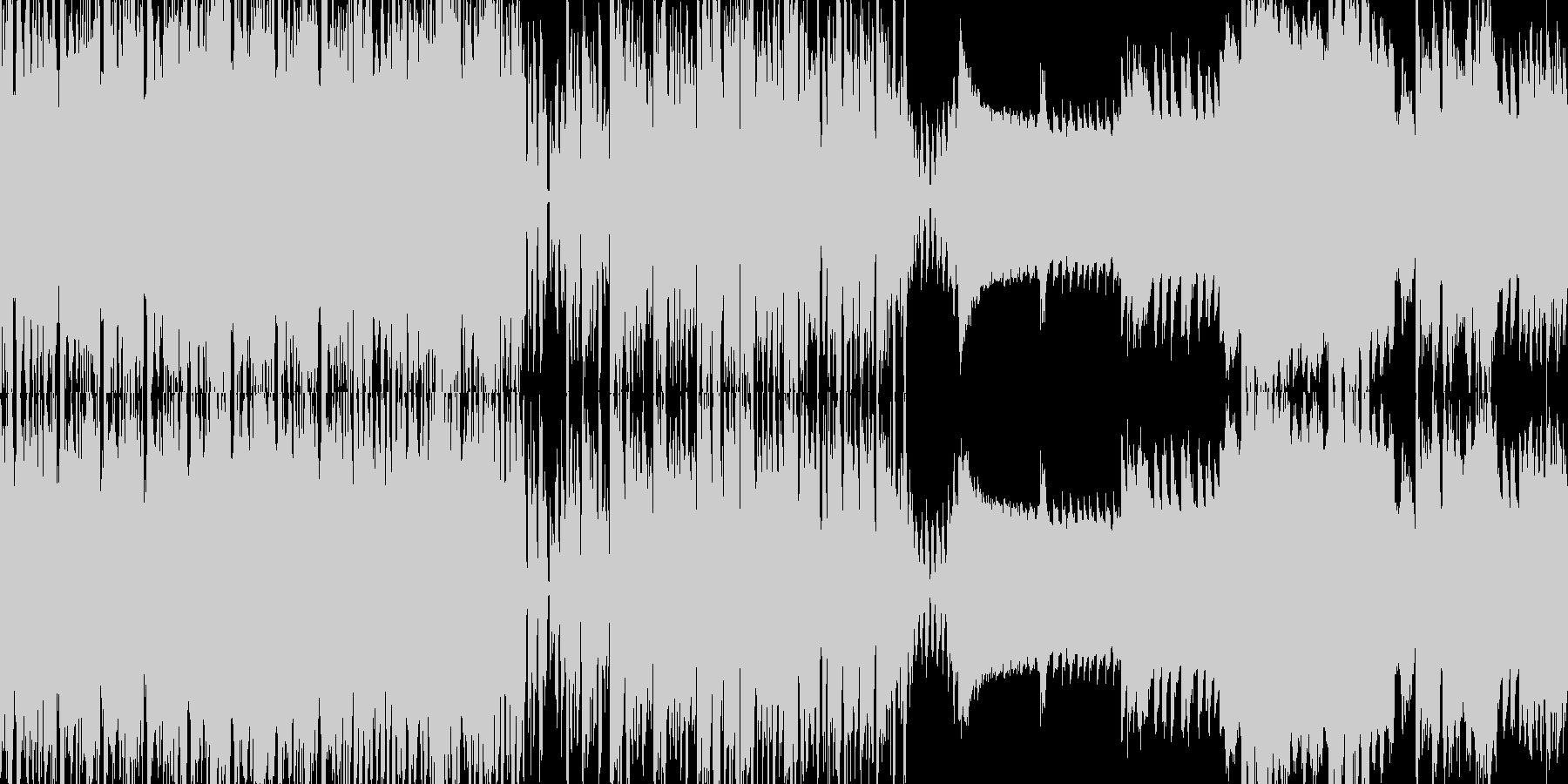 アゲMAXのクラブ系ダンスミュージックの未再生の波形