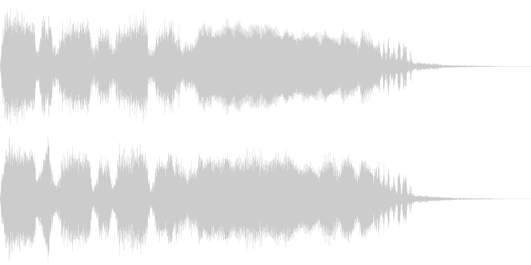 失敗時のファンファーレ1の未再生の波形