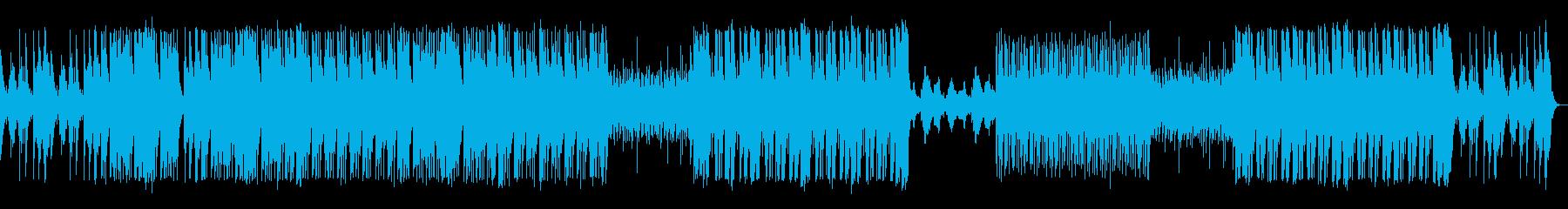 ハープの音が心地よいBGMの再生済みの波形