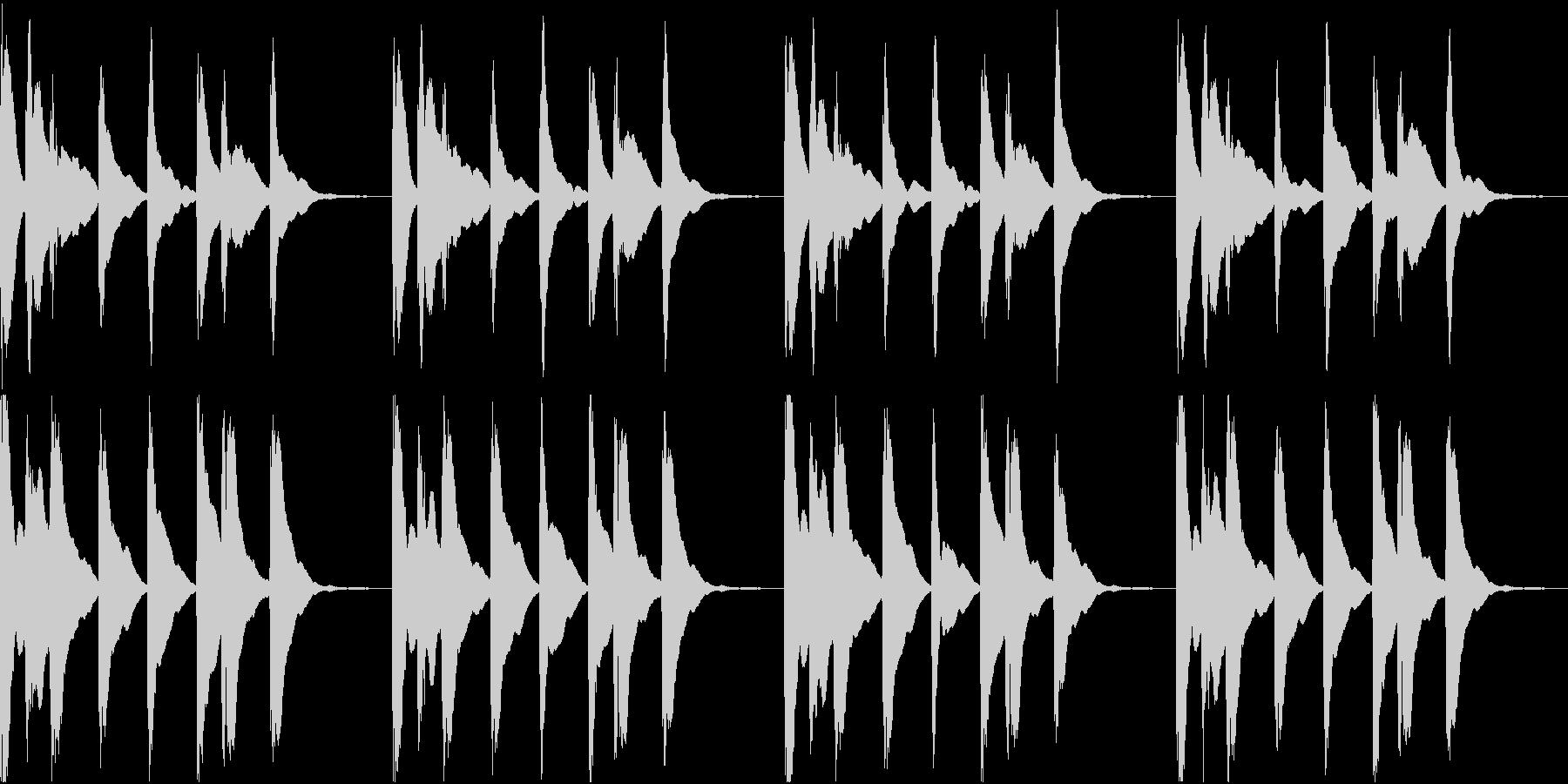 シンプル ベル 着信音 チャイム C-4の未再生の波形