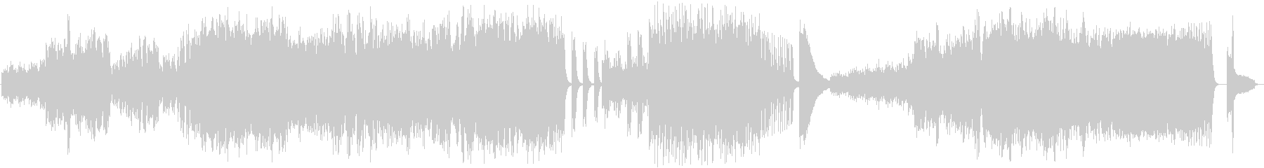 ピアノ独奏による幻想的な曲の未再生の波形