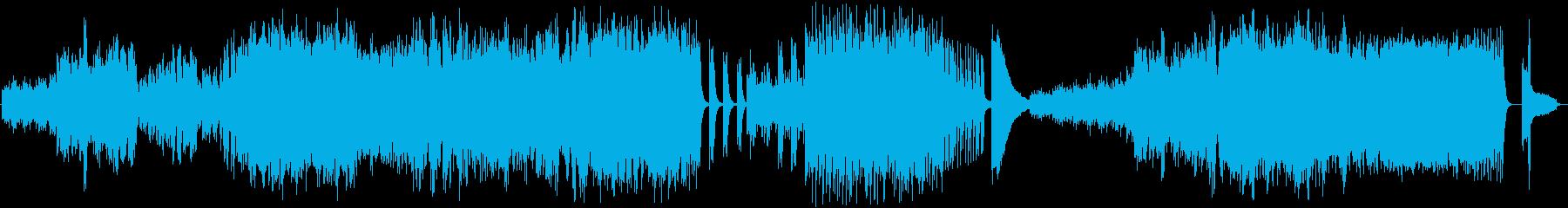 ピアノ独奏による幻想的な曲の再生済みの波形