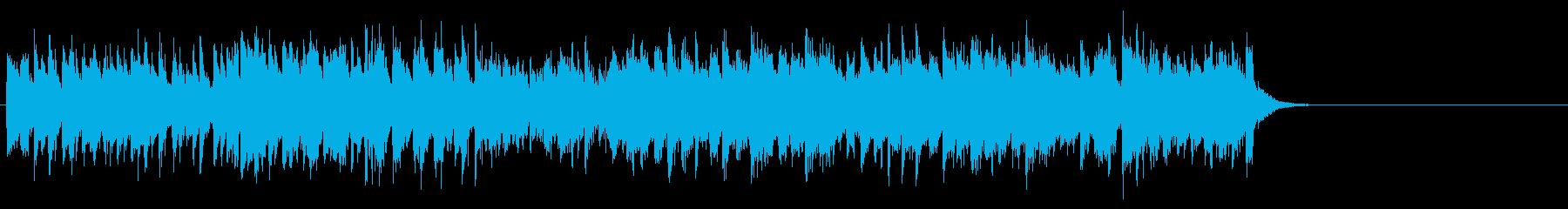 軽快なガールズポップス(Aメロ~サビ)の再生済みの波形