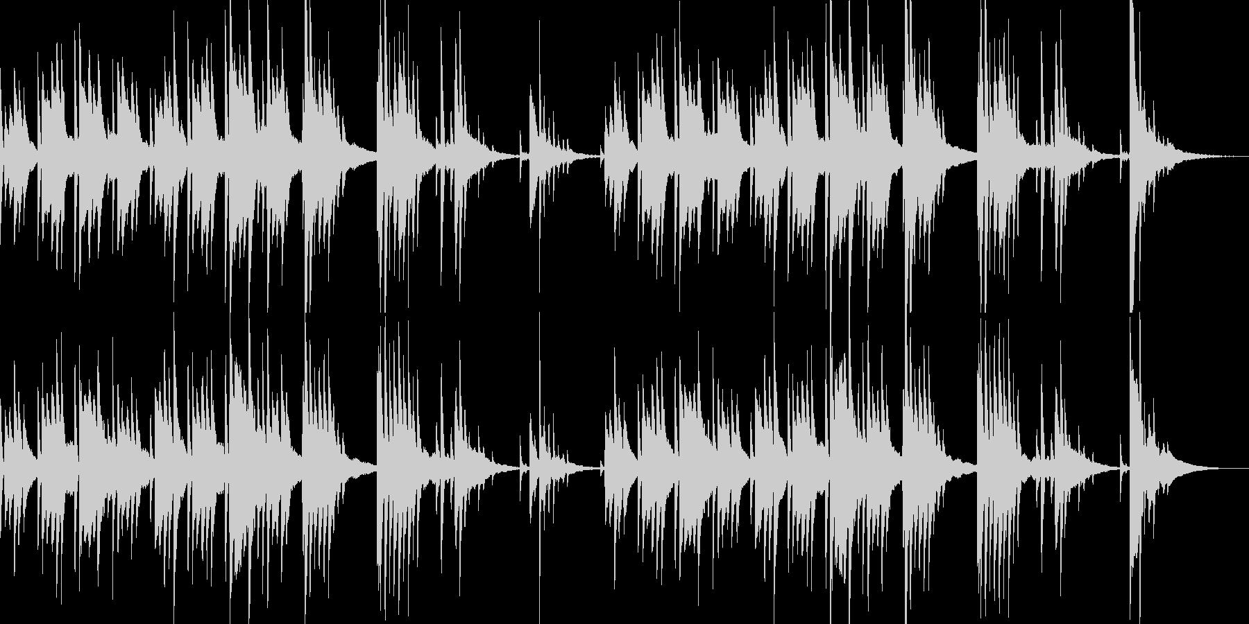 切ないピアノの旋律が印象的なバラードの未再生の波形