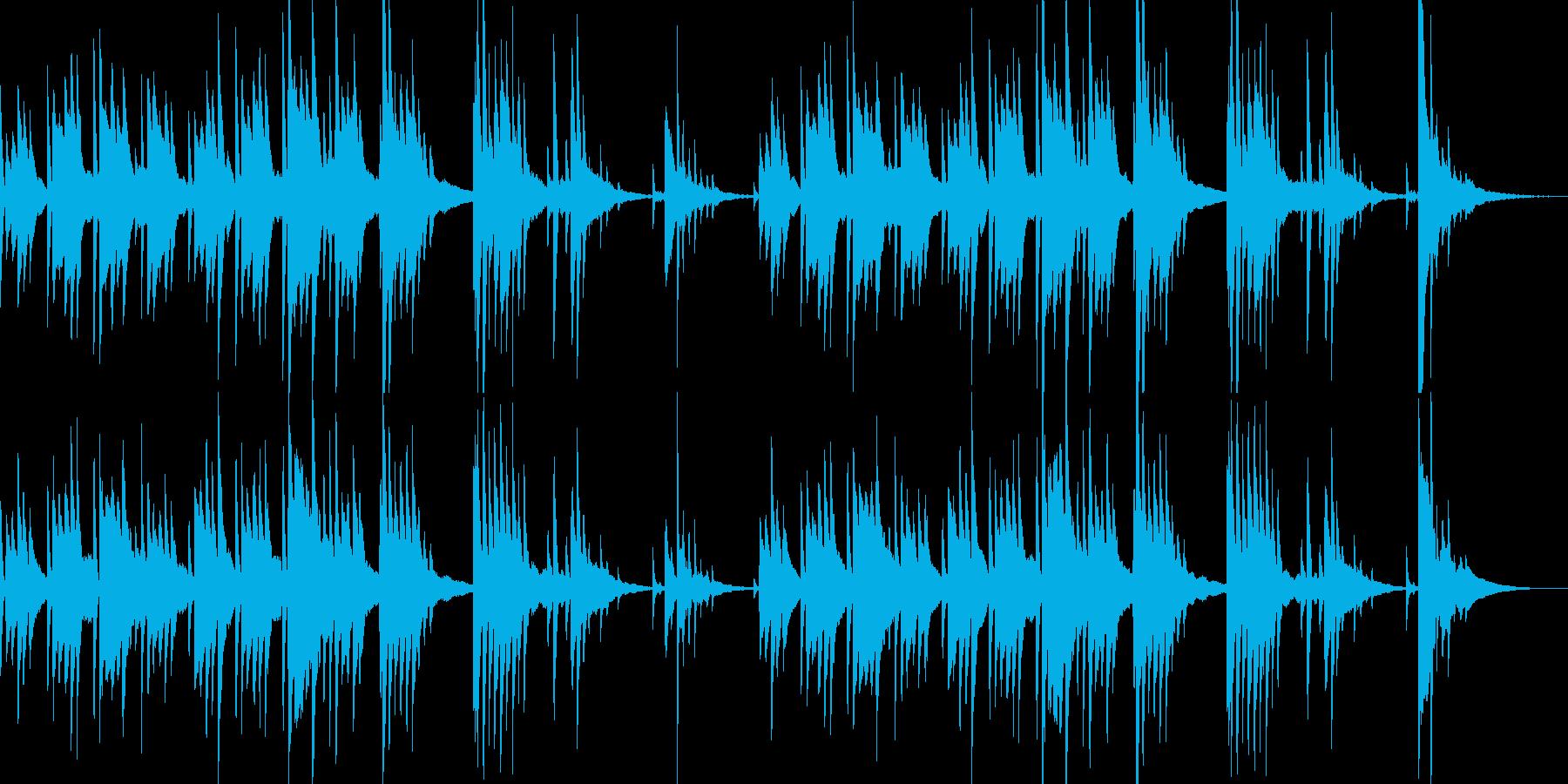 切ないピアノの旋律が印象的なバラードの再生済みの波形