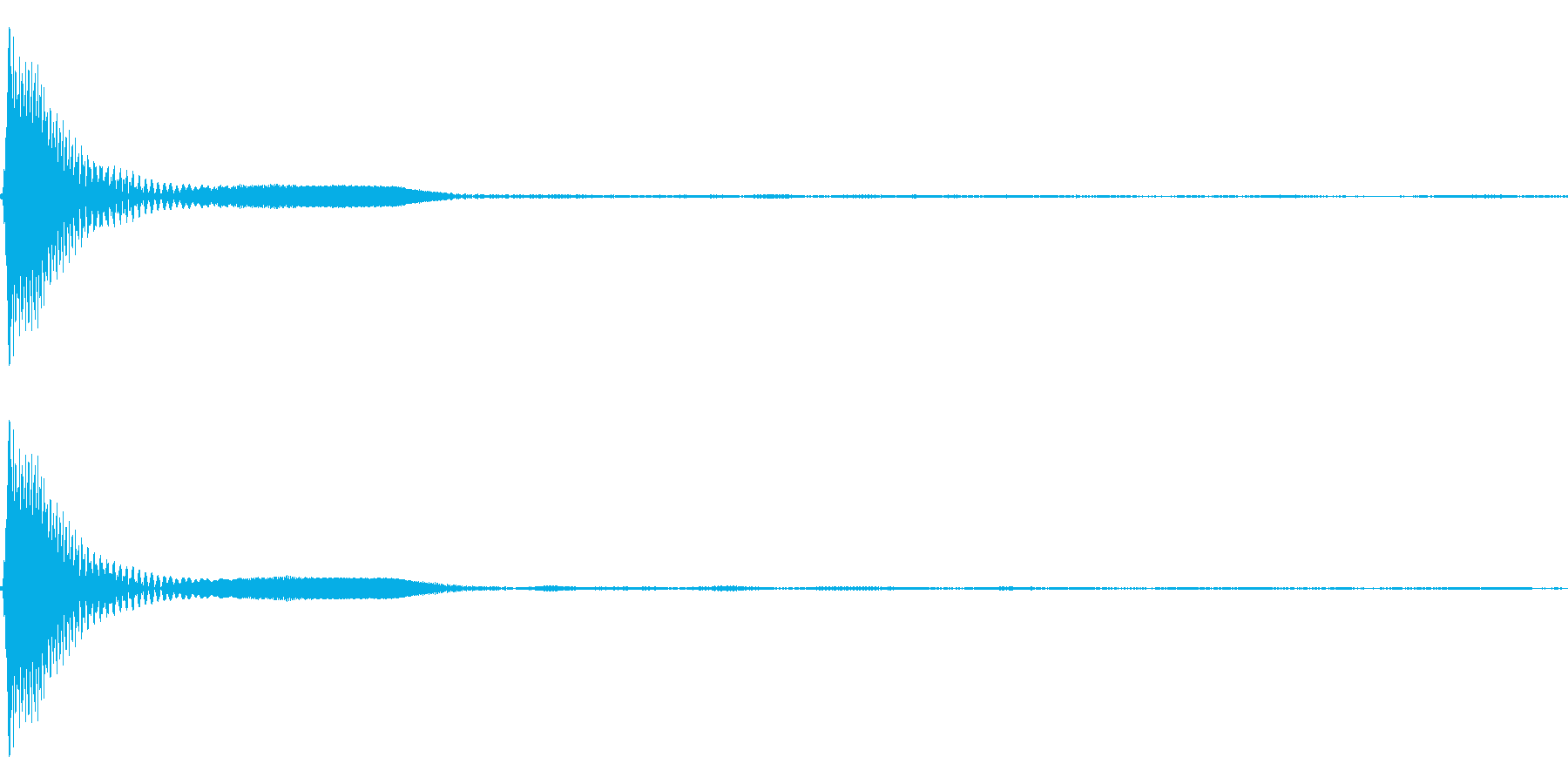 Count カウントダウン 単発音 2の再生済みの波形
