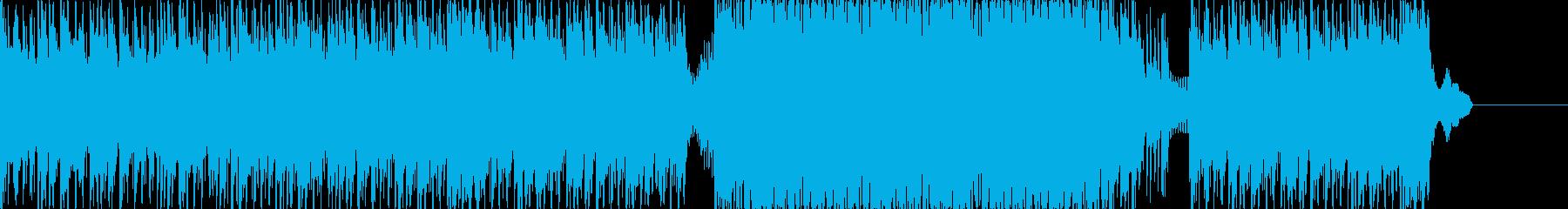 ハードで近未来なドラムンベースの再生済みの波形