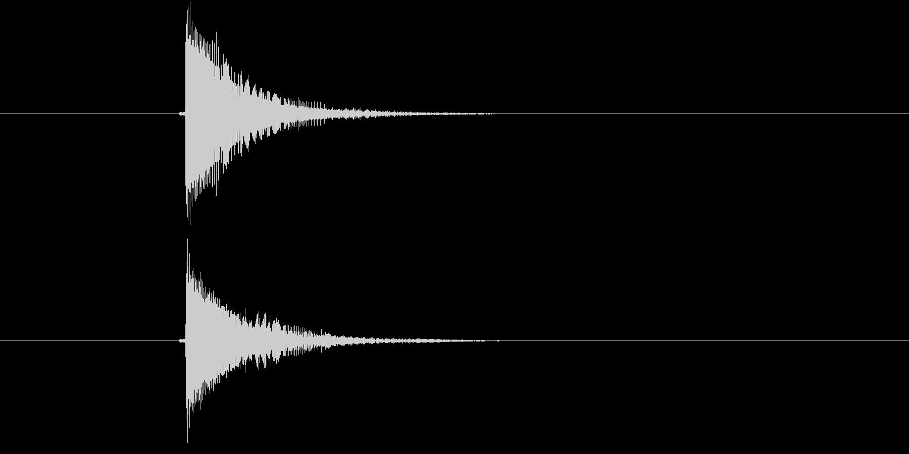 チューン!電子音系の発砲音の未再生の波形