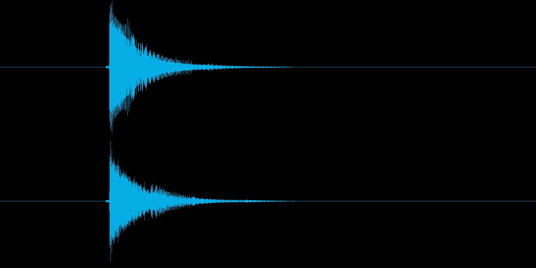 チューン!電子音系の発砲音の再生済みの波形