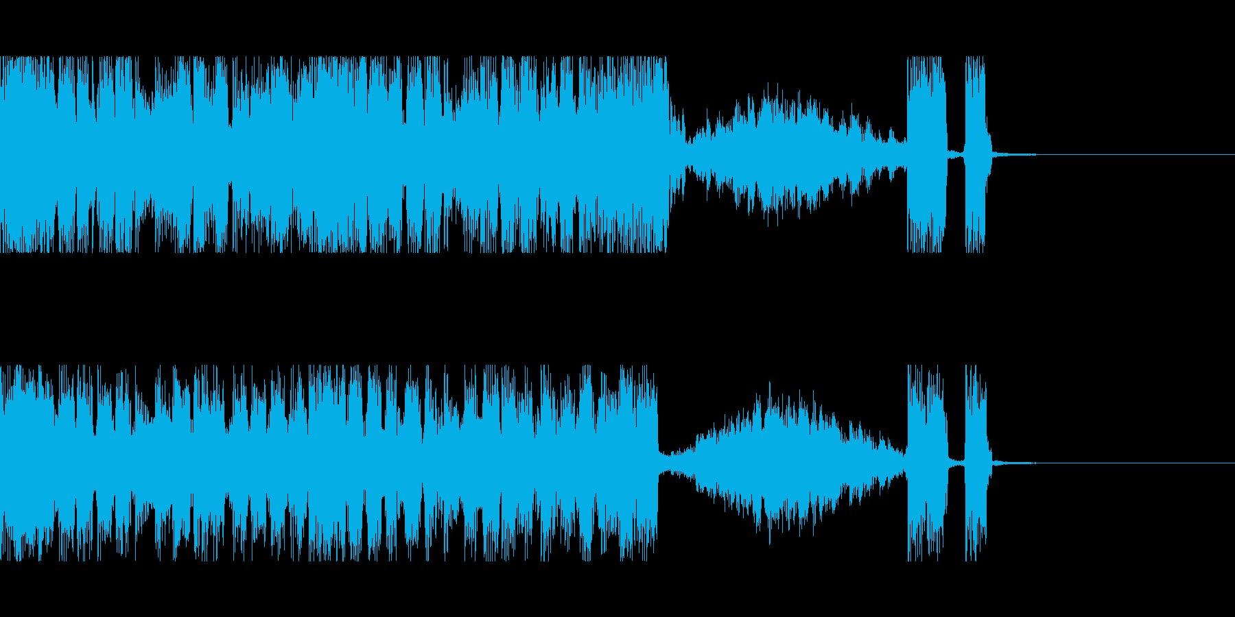 ヘヴィロックなジングルの再生済みの波形