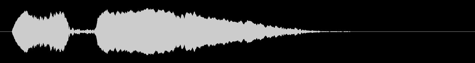 「ポッポ〜」オカリナによる鳩の鳴き声擬音の未再生の波形