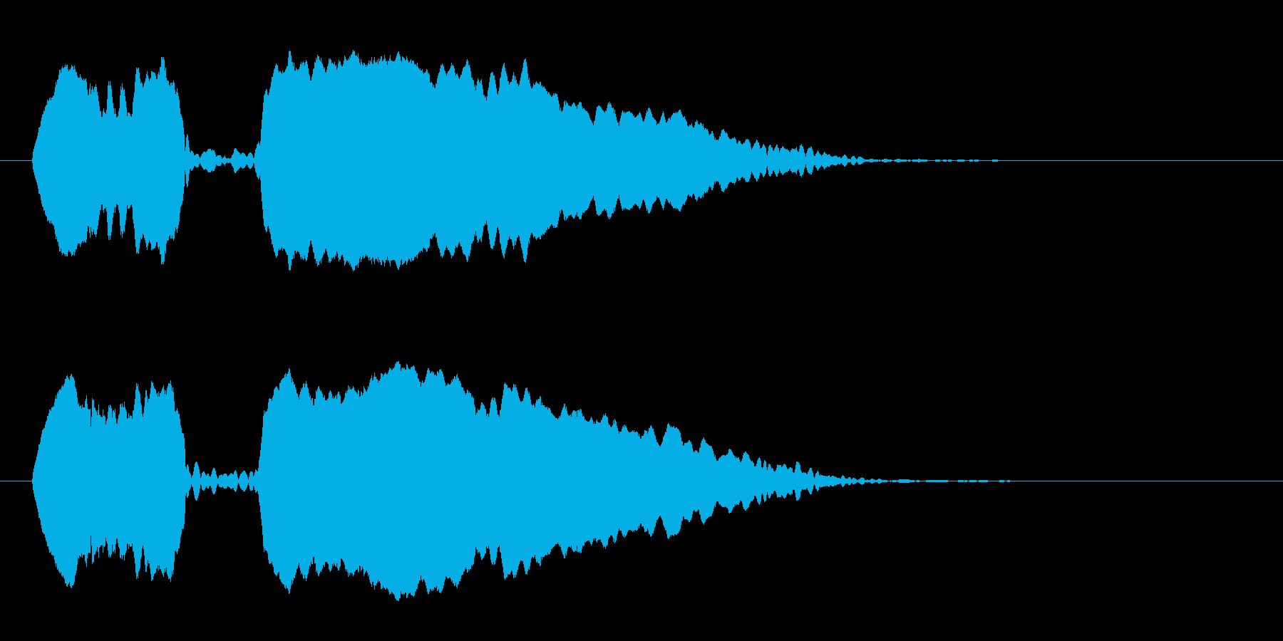 「ポッポ〜」オカリナによる鳩の鳴き声擬音の再生済みの波形