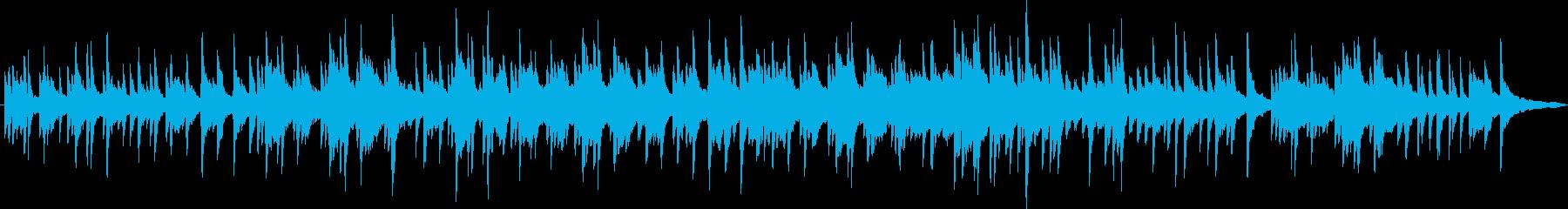 ピアノソロの切ない曲の再生済みの波形