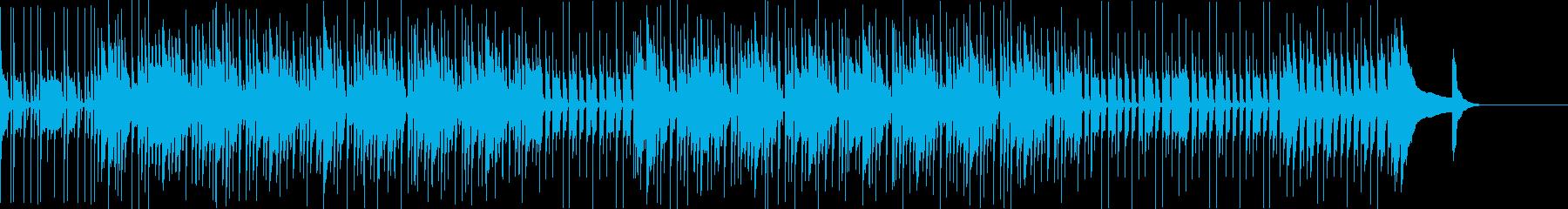 ほのぼのとした日常シーンにの再生済みの波形