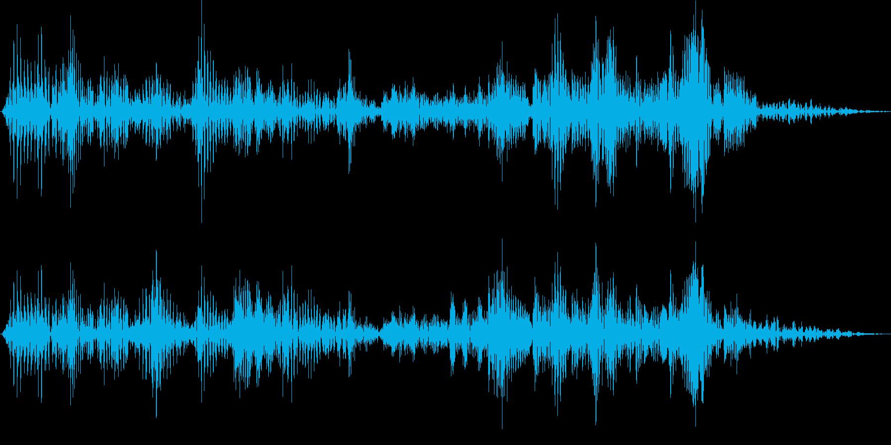 ボタン押下や決定音_ギュルポッ!の再生済みの波形