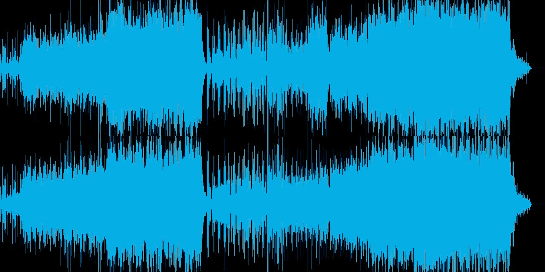 映像、西アジア風音楽ーEast windの再生済みの波形