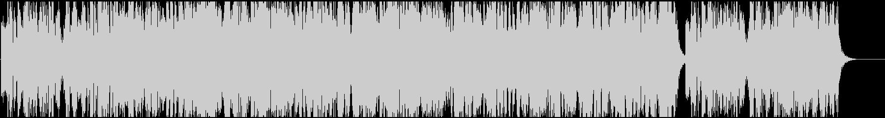 電子的なシンセサイザーによるミュージックの未再生の波形