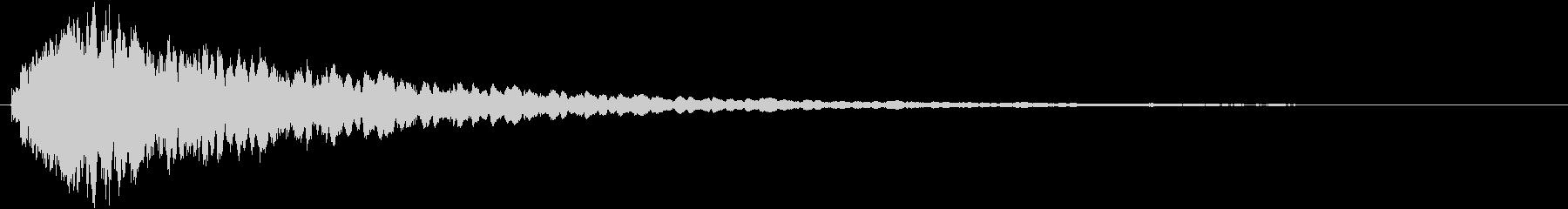 タッチ音 (シャキーン)の未再生の波形