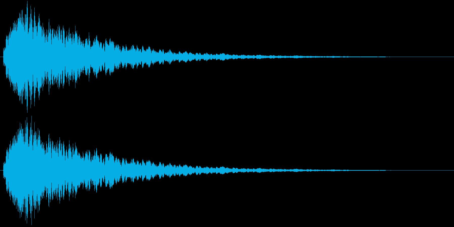 タッチ音 (シャキーン)の再生済みの波形