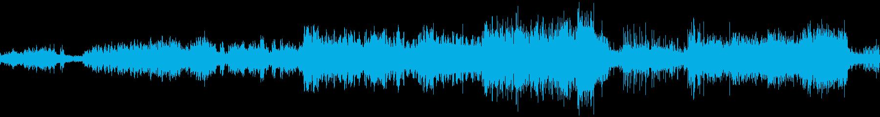 Fベーコンの絵をイメージした劇伴曲の再生済みの波形