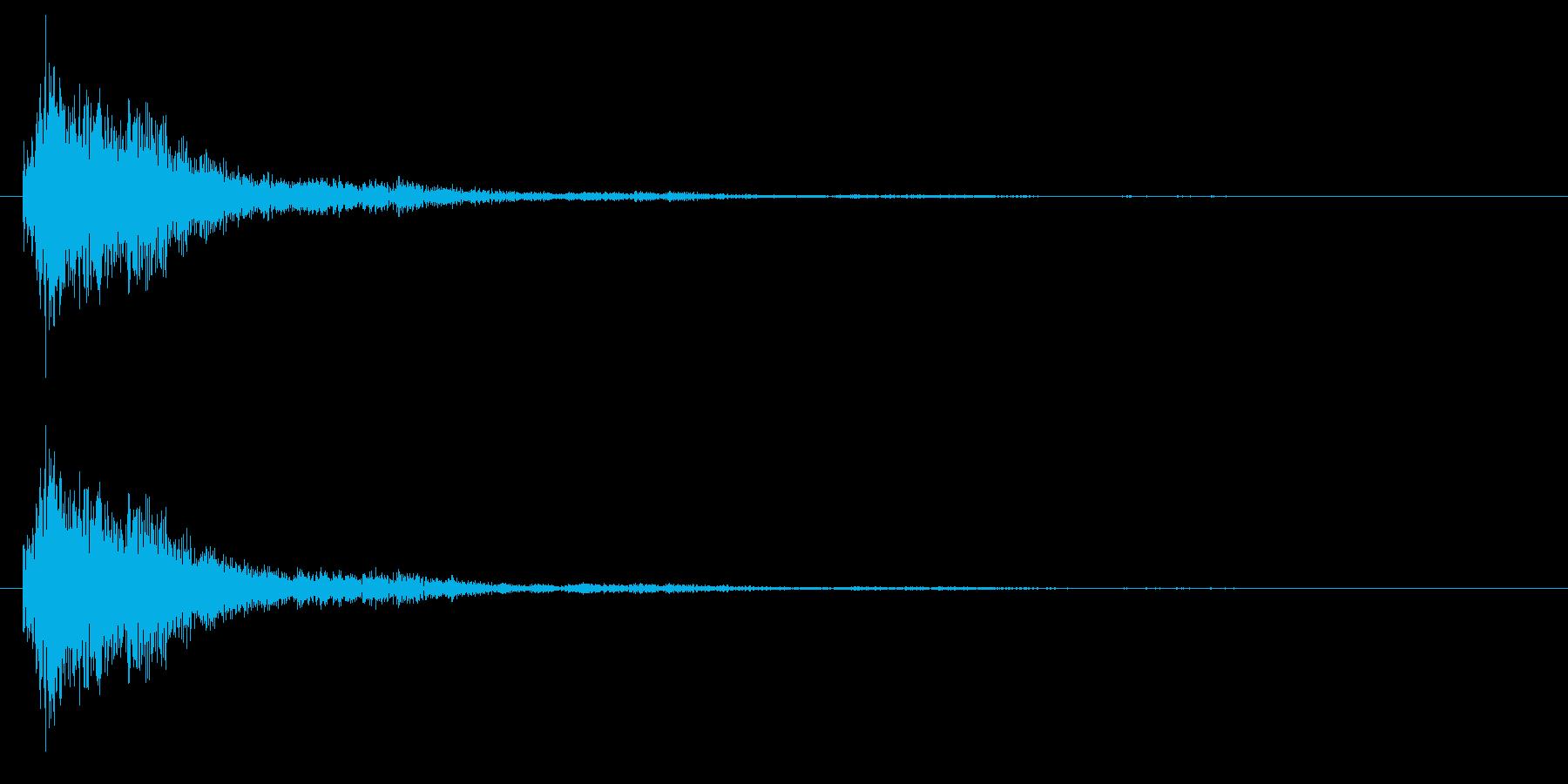 SF/決定音/選択音の再生済みの波形
