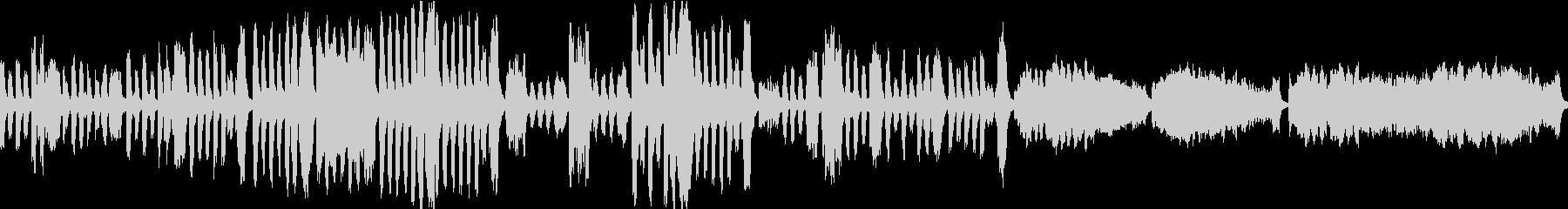 アニメっぽいオーケストラで 貴婦人の乗馬の未再生の波形