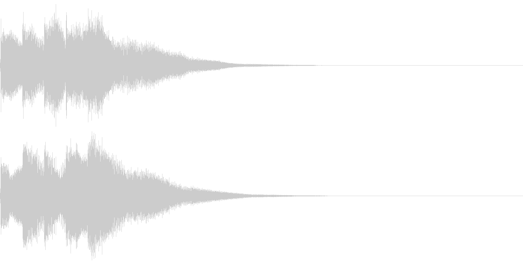 キラリン チャラリン クリック 40の未再生の波形