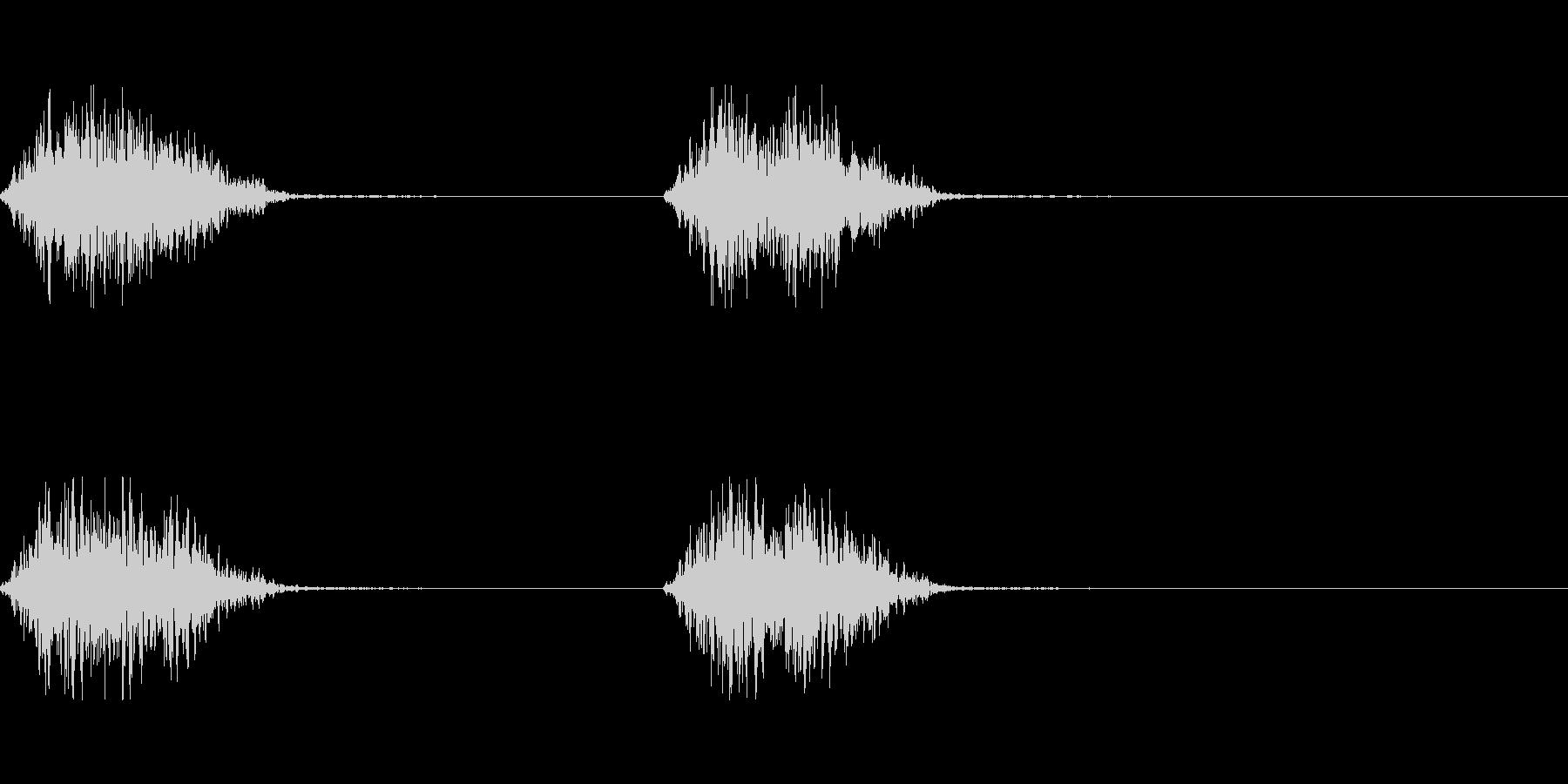 モンスターの足音 3の未再生の波形