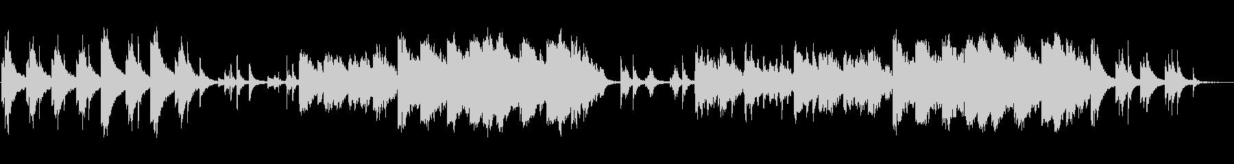シンプルで幻想的なヒーリングミュージックの未再生の波形